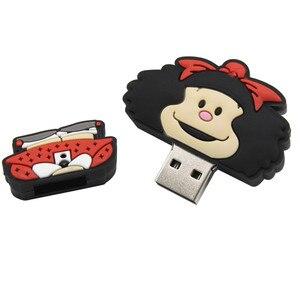 Image 5 - Wyślij mi wiadomość nowy nodel cartoon głowa diabeł syrenka dziecko pendrive 4GB 8GB 16GB 32GB 64GB bride groom pen drive pamięć usb