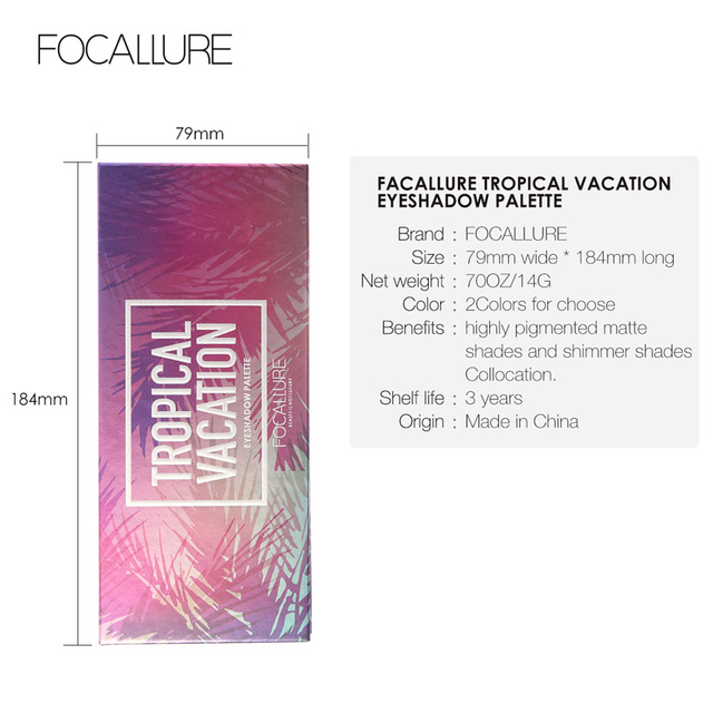 FOCALLURE 14 Colors Eye Shadow Palette Matte Glitter High Pigment Hot in ins Palette Eyeshadow with Brush Eyes Makeup Eyeshadow 5