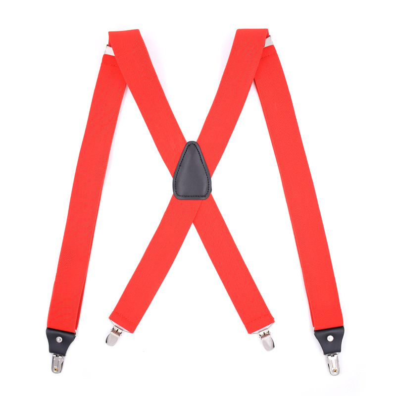 Hot Selling Stretch 4 Clip Adjustable Men's X-Shape Good Grip Adult Bib 10-Color