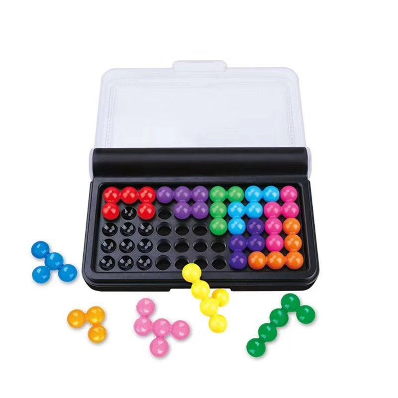 Умные игры-пазлы в виде пирамиды, интеллектуальный вызов, обучающая игрушка, портативная Логика для строительства, когнитивные навыки, пазл...
