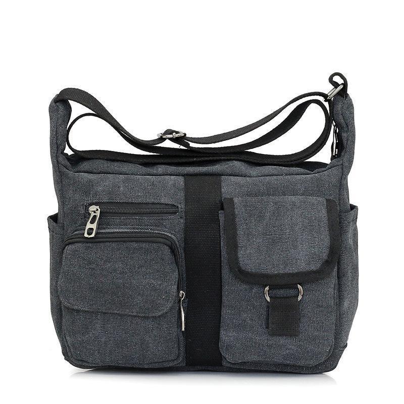 Men Canvas Bag Handbag Men Women Oblique Satchel Bags Messenger Bag Shoulder Bags Travel Handbag