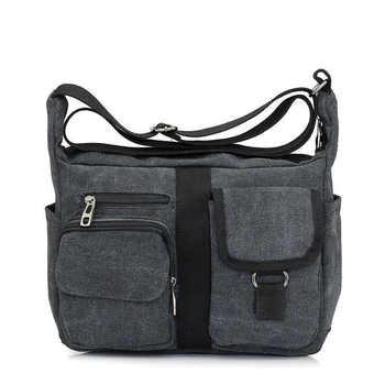Men Canvas Bag Handbag Men Women Oblique Satchel Bags Messenger Bag Shoulder Bags Travel Handbag - DISCOUNT ITEM  12% OFF All Category