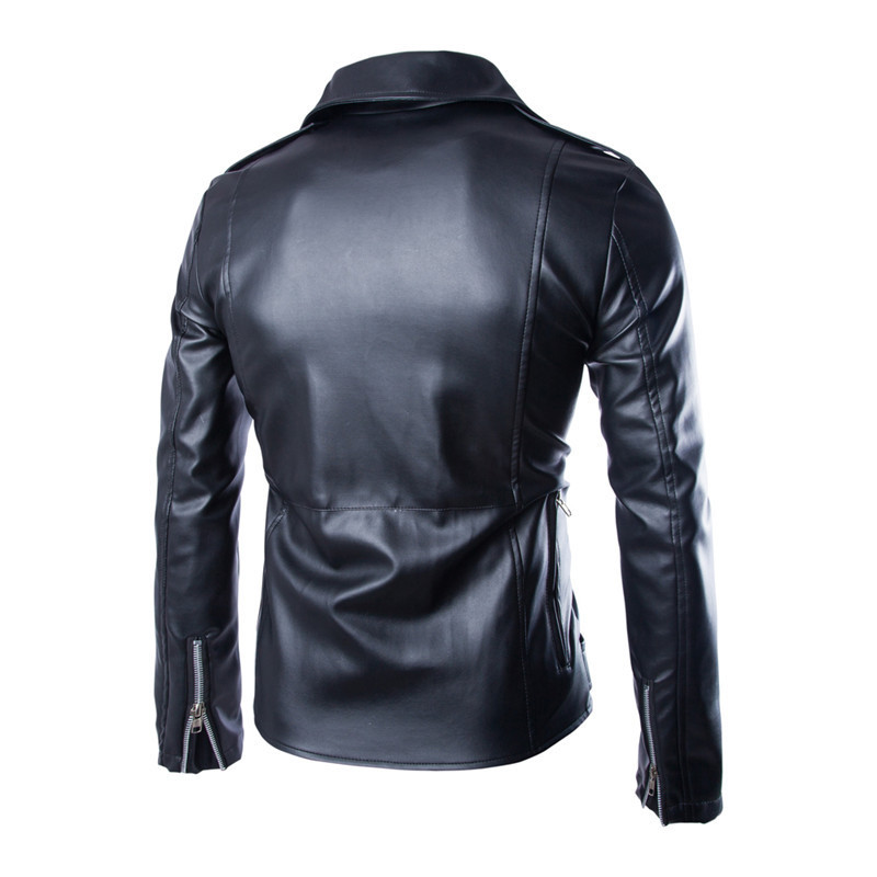 2018 New Style Cool Dora Design Men PU Leather Jacket Korean-style Fashion Locomotive Leather Coat Y105