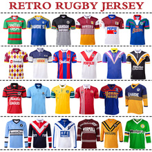 RETRO RUGBY JERSEY WARRIORS EAGLES Wests Tigers STORMS Penrith Panthers MELBOURNE Brisbane Broncos