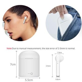 i7s tws Headphones Bluetooth 5.0 Earphones Wireless Headsets Stereo Bass Earbuds In-ear Sport Waterproof Headphone free shipping 3