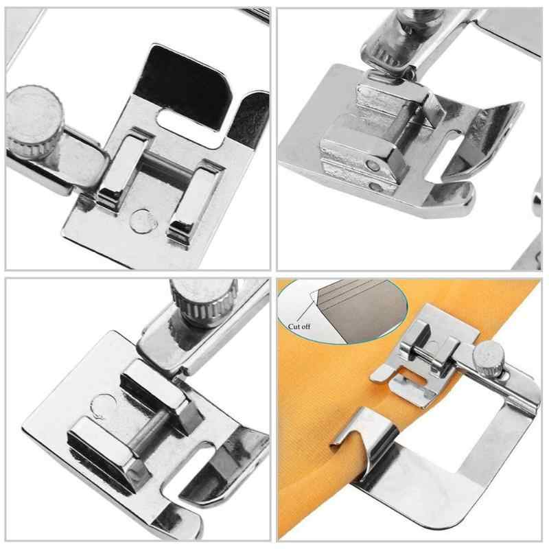 3Pcs Hot Sale Domestic Sewing Machine Foot Presser Rolled Hem Feet Set for Brother Singer Sewing Machine Accessories