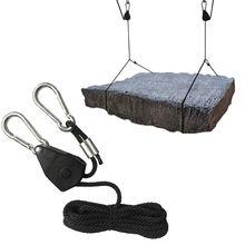 """1/"""" шкив веревка трещотка фиксирующая вешалка подъемный шнурок палатка комнатный вентилятор растение"""