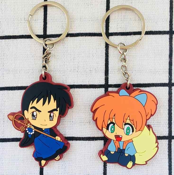 1pc śliczne Anime Inuyasha brelok akcesoria zabawki figurki z pcv Cosplay brelok etui wisiorek dla dzieci prezent