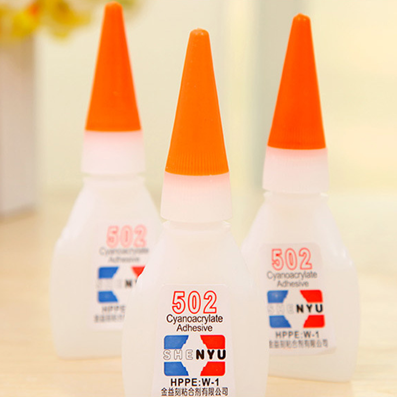 Multi-Function 502 Super Cyanoacrylate Glue Adhesive Strong Super Glue Fabric Rubber Plastic UV Glue Adhesive For Office Tool