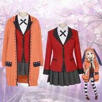 Volle set Kakegurui Figur Yomotsuki runa JK Schule mädchen Einheitliche Hoodie Halloween cosplay kostüm