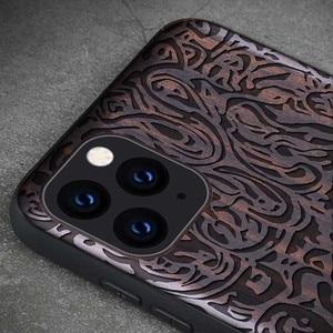 Image 3 - שחור עץ 11 פרו מקרה עבור iPhone 11 פרו מקסימום מקרה עץ SE 2020 כיסוי TPU Coque עבור iPhone 7 8 בתוספת X Xr XS 11 Max Pro Funda