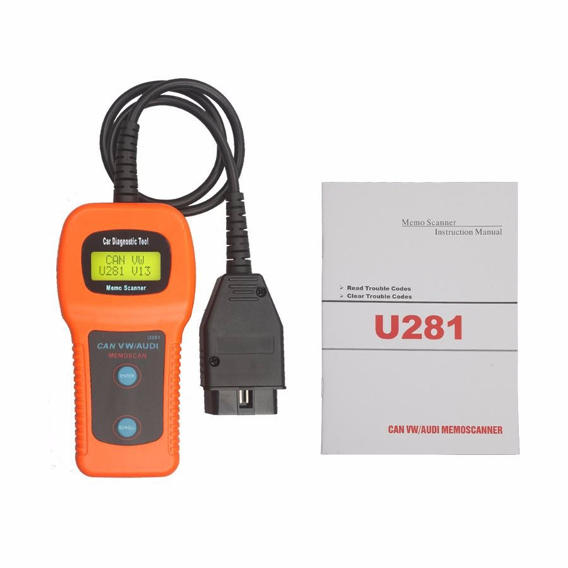 OBD II 2 CAN U281 Car Code Reader Scanner Memo Diagnostic Tool Memoscan Seat CAN-BUS OBD2 for AUDI VW Passat