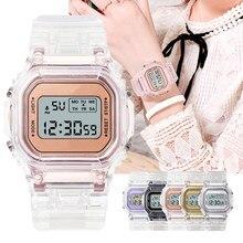 Fashion Watch Women Men Gold Casual Transparent Digital Sport Watches Lover's Gift Clock Children Wristwatch Female Reloj mujer