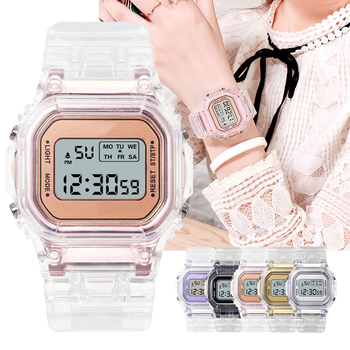 Fashion Watch Women Men Gold Casual Transparent Digital Sport Watches Lover's Gift Clock Children Wristwatch Female Reloj mujer