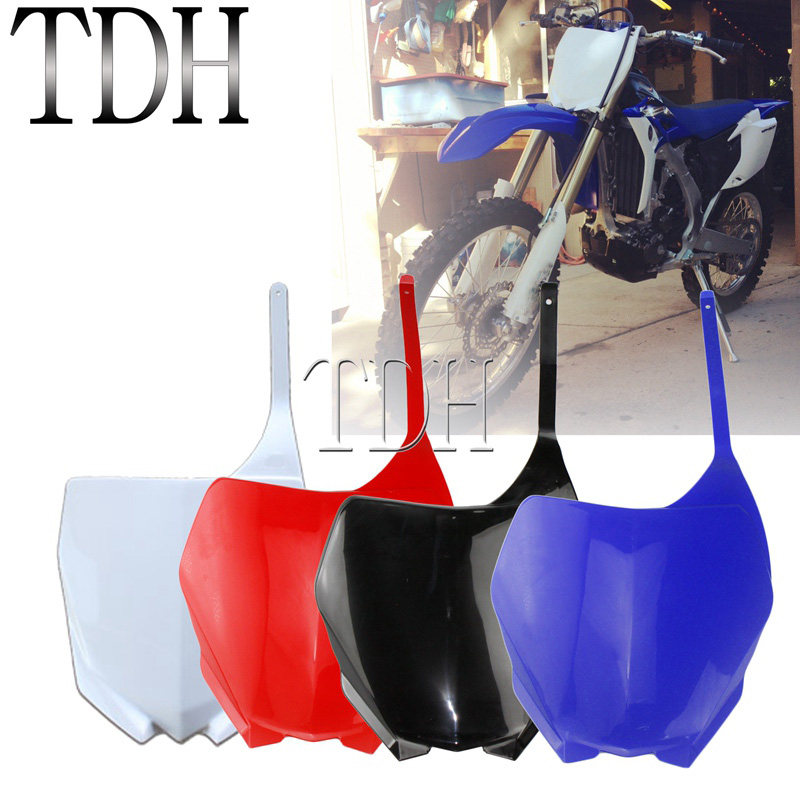 Передняя номерная пластина для мотокросса, синий/белый/черный/красный для Yamaha YZ125 YZ250 06-14 YZ250F YZ450F 06-09 WR250F WR450F 07-14 WR YZ YZF