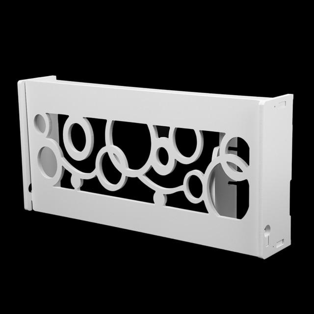 Sans fil Wifi routeur boîte bois étagère murale suspendus prise conseil support boîte de rangement