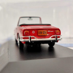 Image 2 - IXO 1/43 For Fiat 800 Spider 1966 Diecast Models Limited Edition Collection Car Toys Gift Red