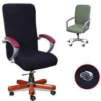 Nouveau 9 couleurs moderne Spandex ordinateur chaise couverture 100% Polyester élastique tissu bureau chaise couverture facile lavable amovible