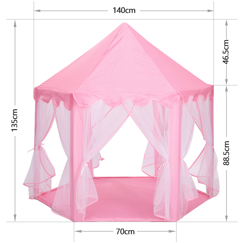 Купить с кэшбэком Baby toy Tent Portable Folding Prince Princess Tent Children Castle Play House Kid Gift Outdoor Beach barraca infantil gifts