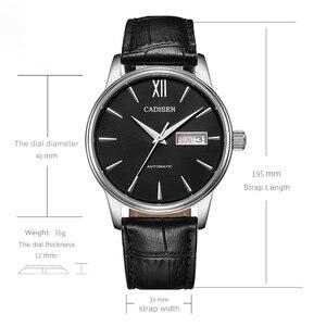 Image 2 - CADISEN 自動腕時計メンズメカニカル革の腕時計トップの高級ブランド日本 NH36A 腕時計時計レロジオ Masculino