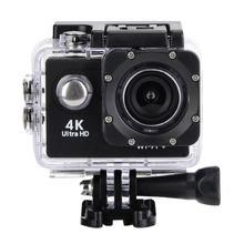 4K HD واي فاي عمل الرياضة كاميرا 30 متر مثبت مضاد للماء اثنين بطارية دراجة جبل عدة 4K فيديو و 12MP صور زاوية واسعة عدسة