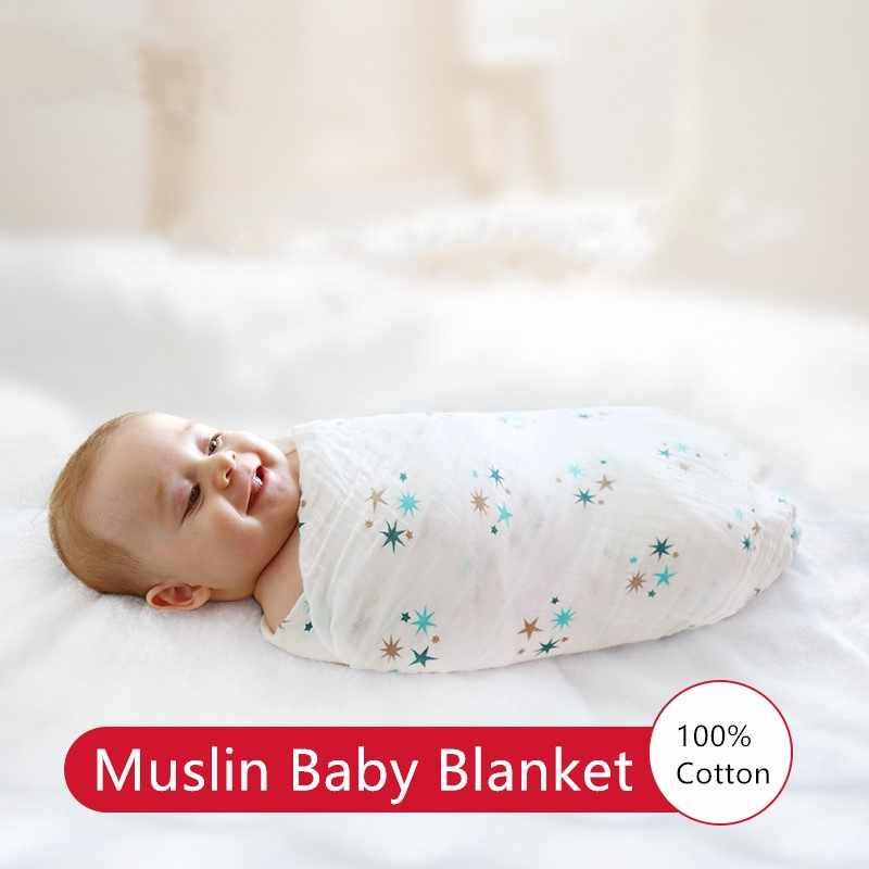 Aden Anais sobres multifuncionales para recibir a recién nacidos mantas ropa de cama infantil de algodón toalla envolvente manta de muselina para bebé