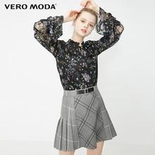 Vero Moda Women's Lace See-through Floral Chiffon Top Blouse   319151526