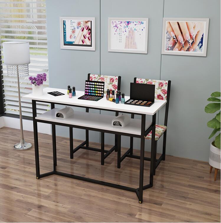 Маникюрный Стол одинарный и двойной маникюрный магазин стол специальный выгодный экономичный контракт современный стол для маникюра и Набор стульев