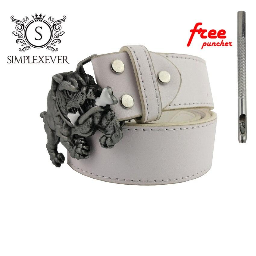 Belts With Pekingese Metal Belt Buckles Silver Mens Belt Buckles Head Suit For 3.8-4cm Width Belt Dropshipping