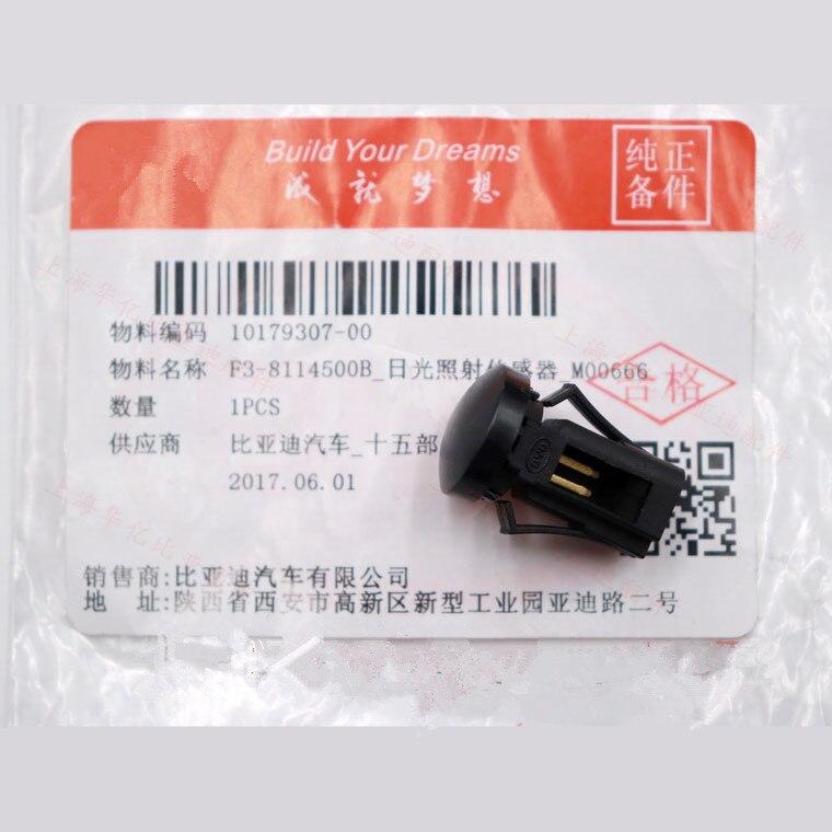 Daglicht Sensor Voor Byd F3, F3R, G3, F6, F3DM, M6, G6, E6B, s6 F5 Suri F6 Sirui F3-8114500B