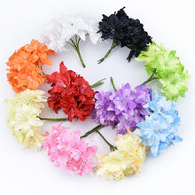 1pcs/6 pieces artificial 5cm handmade mini rayon butterfly orchid DIY scrap flower wedding party decoration(China)