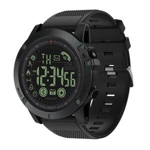 Deportes al aire libre impermeable Bluetooth Larga modo de reposo reloj inteligente táctico militar pulsera podómetro con Esfera luminosa
