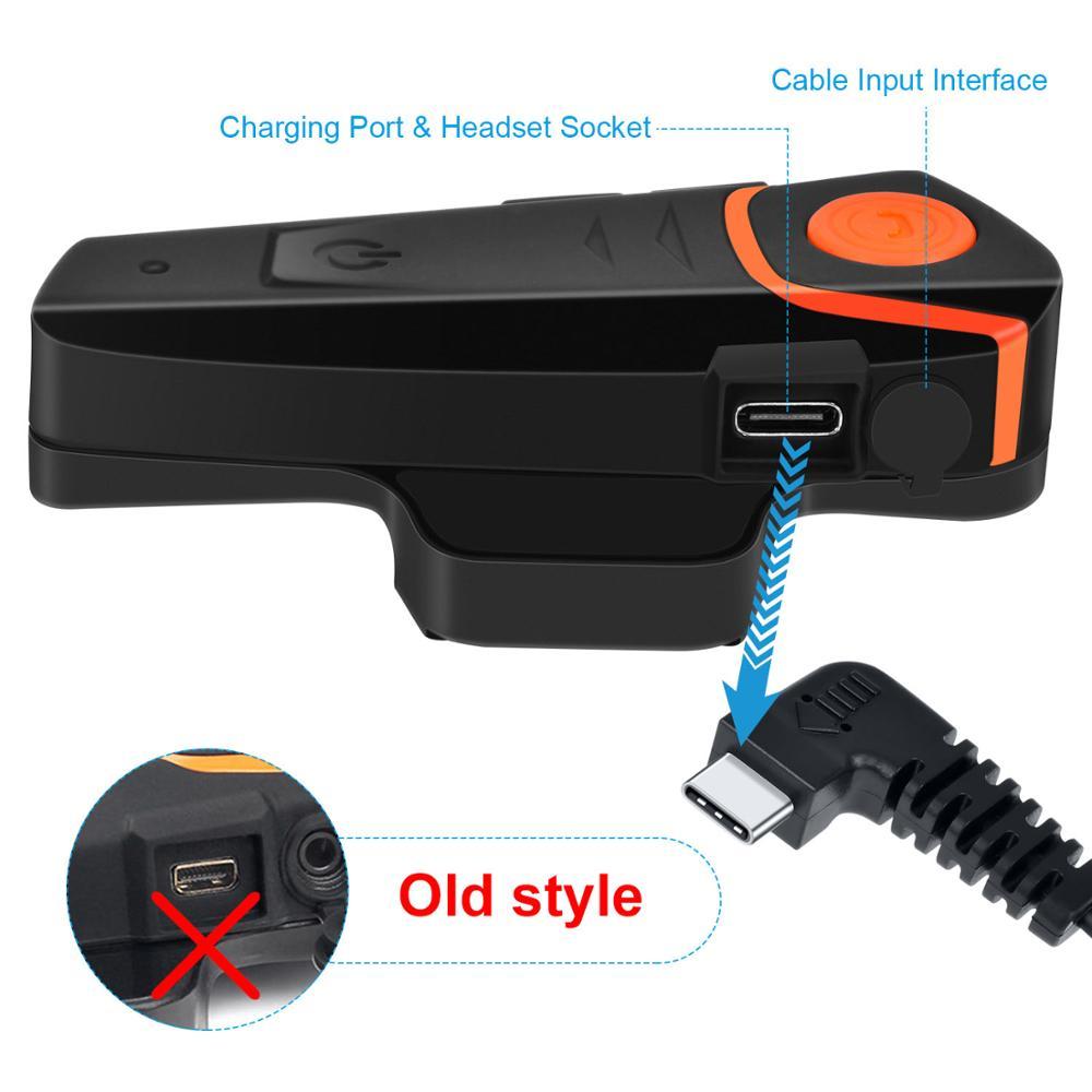 1pc Fodsports BT-S2 Pro Helm Intercom Bluetooth Headset 1000m Wasserdichte IPX6 Sprech Intercomunicador Moto Mit FM Radio