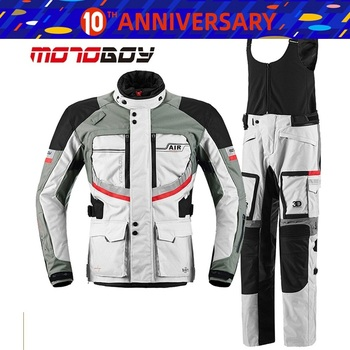 Free shipping 1set Motorbike Off-road Textile Cordura CE approved Armour Waterproof Windproof Warm Motorcycle Jacket and Pants