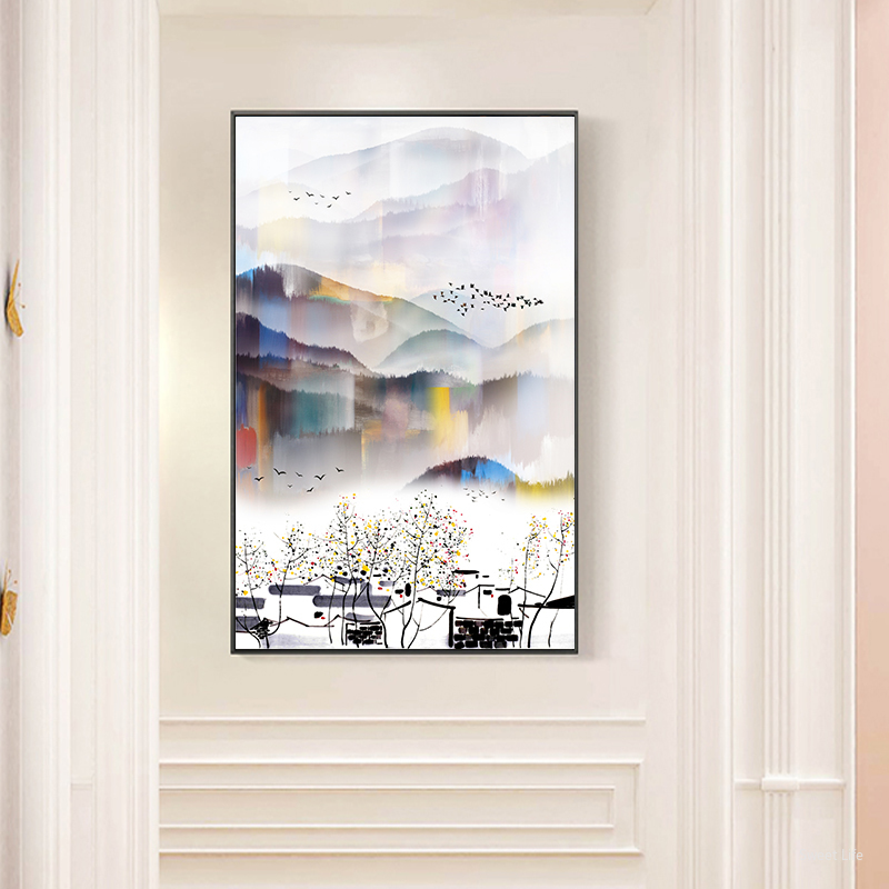 New Chinese Style Mountain View Poster And Print Landscape Wall