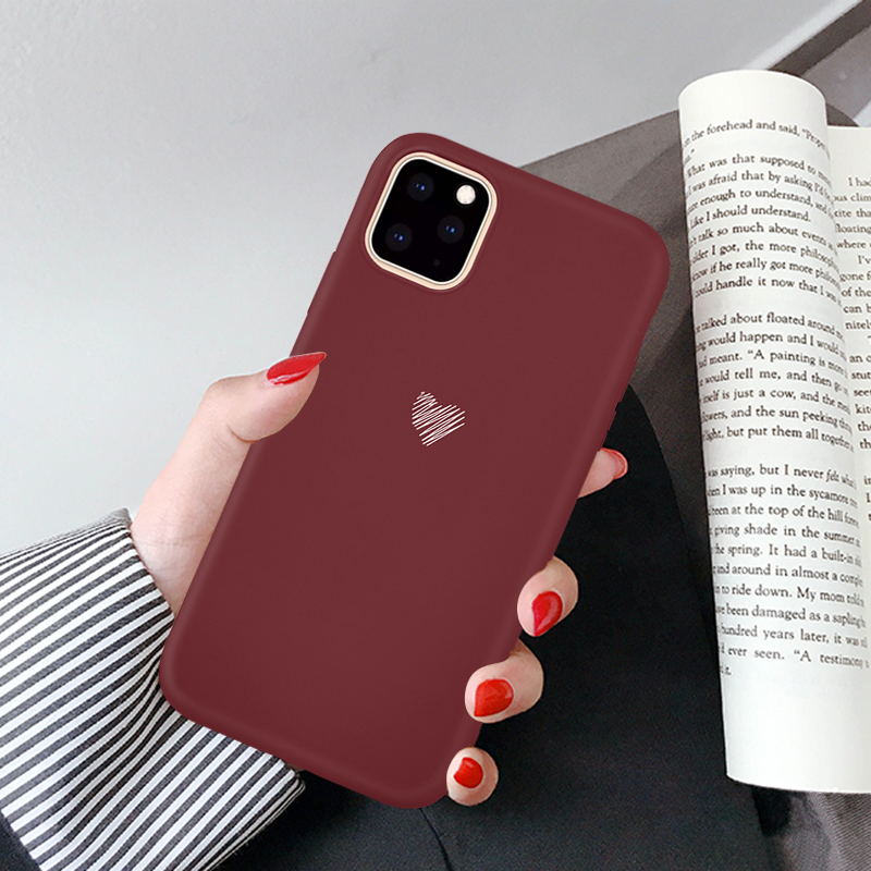 Htmotxy Case Paar Ultradunne Liefde Hart Voor Iphone 11 Pro Max Xs Max Xr X 8 7 6 6S Plus Case Soft Shell Matte Shockproof Coque