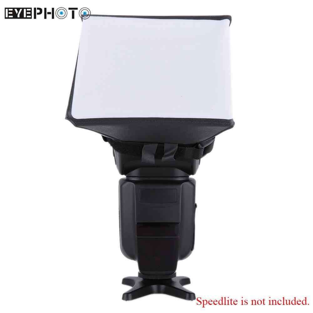 Draagbare Fotografie Flash Diffuser Softbox Kit voor Canon EOS voor Nikon Olympus Pentax Sony Sigma DSLR Speedlite Flash