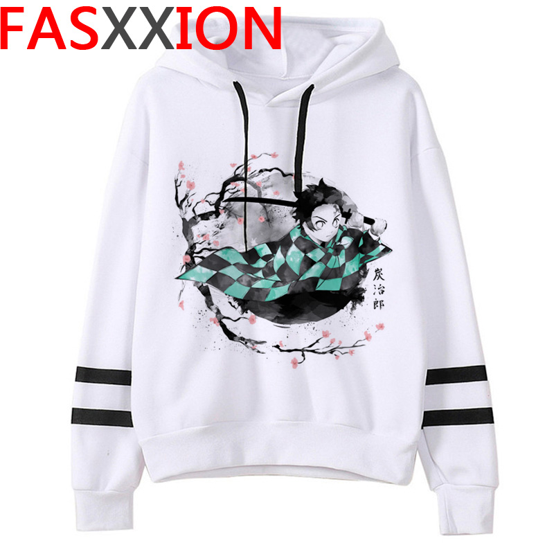 Demon Slayer Anime Hoodie Women Kawaii Cartoon  Harajuku Hoodies  Kimetsu No Yaiba Ulzzang Graphic 2020 90s Sweatshirt Female