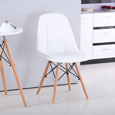 Eames Home Computer Chair Dining Chair Leisure Chair Modern Minimalist Style Solid Wood Conference Chair Armchair Office Chair
