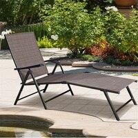 Exterior ajustável chaise lounge cadeira dobrável espreguiçadeiras de sol pátio mobiliário hw49889