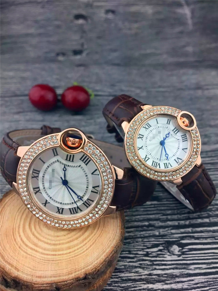 (2 Pieces) Ctr Luxury Diamond Quartz Watch 2020 Top Brand Couple Watches Couple Gift Lover Watch Trending Ladies Man's Men Gift