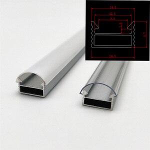Image 4 - 10 100m muito, 1m por pces, perfil de alumínio led para 5050/5630 tiras HR AP1509, habitação plana frete grátis leitoso capa clara