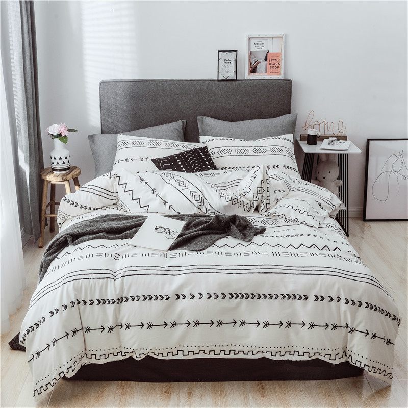 America Multiple European Countries Size 40 Comfortable Simple Cotton Printed Three-piece Set Large Amount