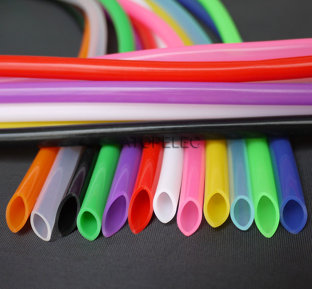ID:2mm~14mm Red Food Grade Silicone Flexible Tubing High Temp Soft Hose//Pipe