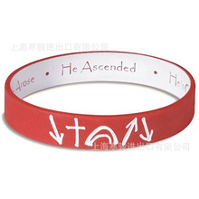 Encourage Jesus Christ He Died Arose Ascended Silicone Sports Bangles Women Fluorescent Rubber Fitness Wristband Bracelet