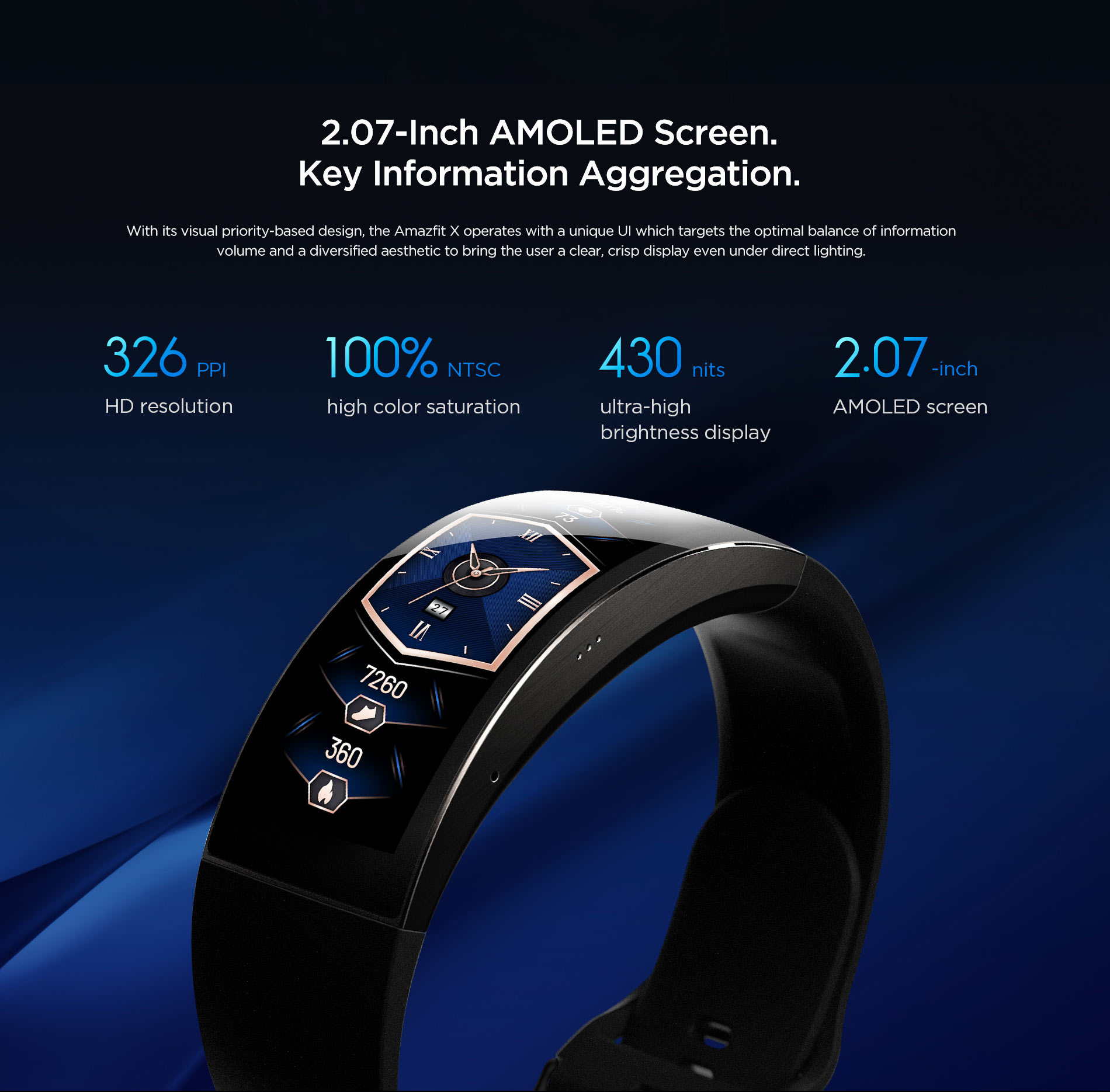 Amazfit X Curved Smartwatch 13