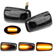 Para włączony kierunkowskaz LED samochód dynamiczny boczny znacznik lampka sygnalizacyjna migacz światło dla Peugeot 306 106 406 806 Expert Partner