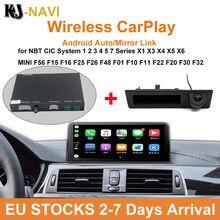 Android Sistema de Auto Decodificador para BMW CIC NBT 1 2 3 4 5 7 Série X1 X3 X4 X5 X6 MINI F56 F15 F25 F26 F48 F01 F10 CarPlay Sem Fio