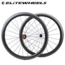 Elitewheels Racefiets 700c Carbon Wielen Clincher Tubular Tubeless Klaar Aero Wielset Super Licht Gewicht 260G Taiwan BI-TEX Hub