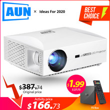 Aun Full Hd Projector F30UP, 1920X1080 P. Android 6.0 (2G + 16G) Wifi, Led Mini Projector Voor Home Cinema, video 3D Beamer Voor 4 K.(China)